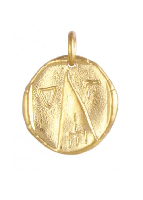 Astrape Coin Pendant Gold