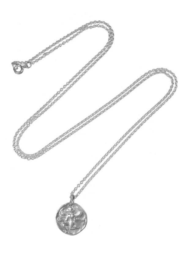 Astrape Coin Necklace Silver