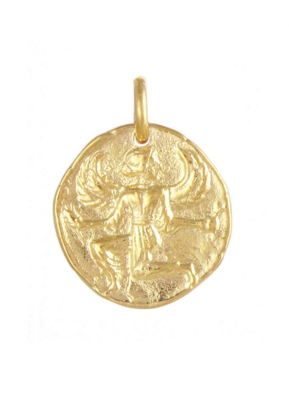 Astrape Coin Pendant Gold Vermeil
