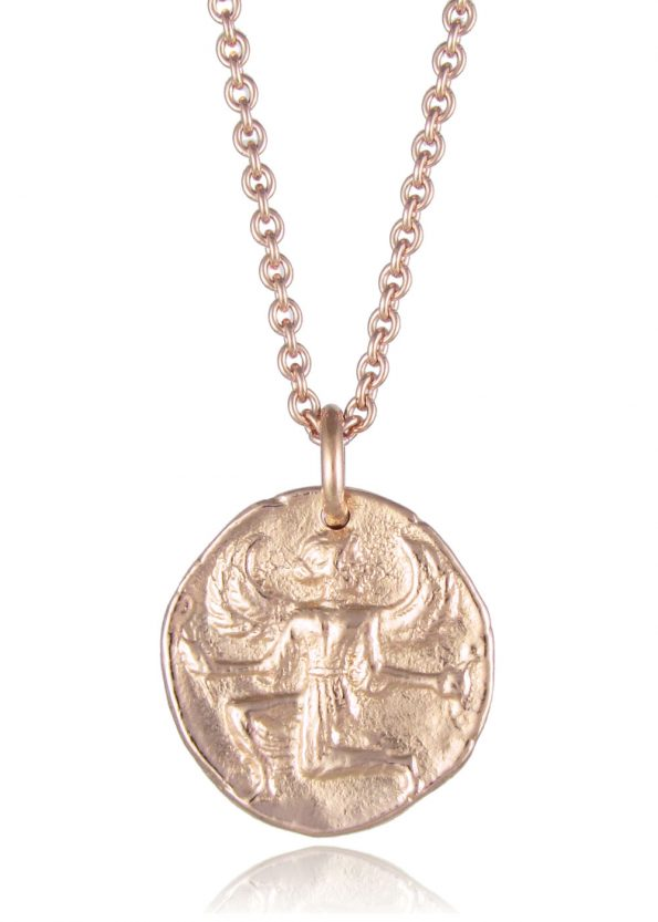 Astrape Coin Necklace Rose Gold
