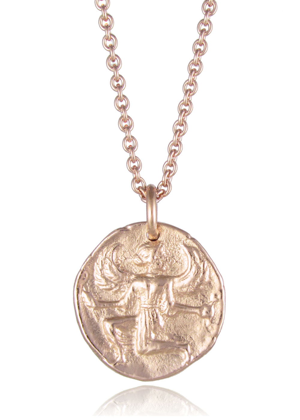 Astrape coin necklace rose gold silver gold plated pendants astrape coin necklace rose gold mozeypictures Images