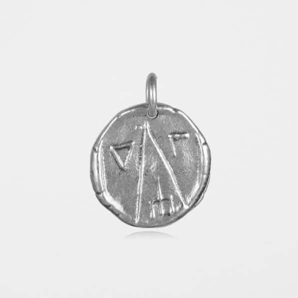 Astrape Coin Pendant Silver