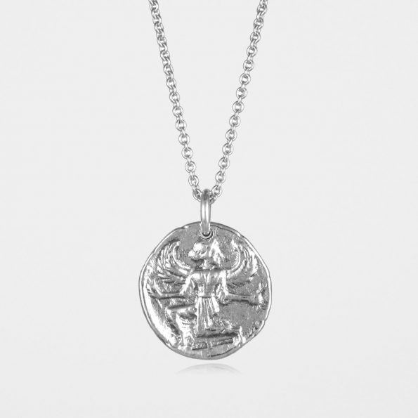 Astrape Coin Necklace Silver