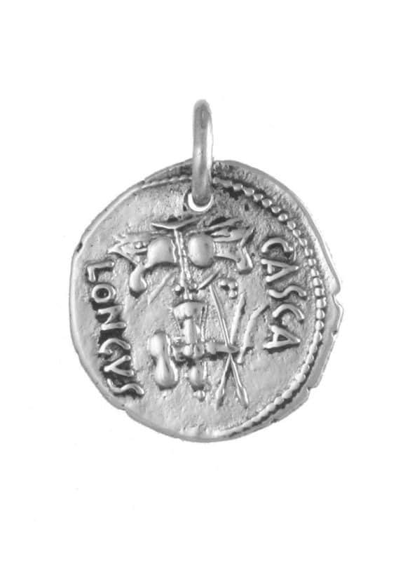 Brutus Coin Pendant Silver