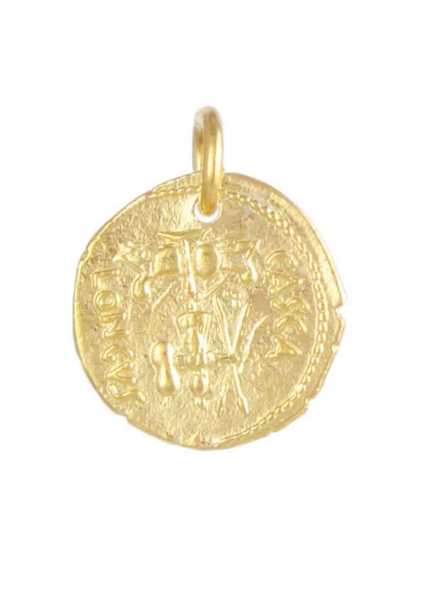 Brutus Coin Pendant Gold