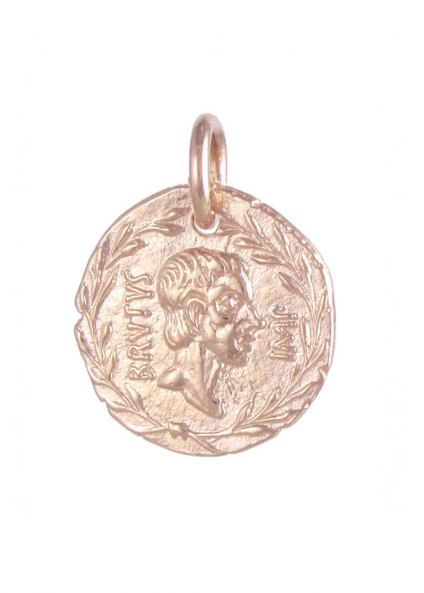 Brutus Coin Pendant Rose Gold