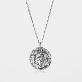 Brutus Coin Necklace Silver