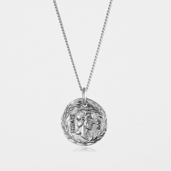 Brutus Coin Necklace Silver