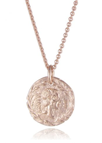 Coin Necklace Rose Gold