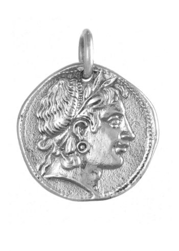 Demeter Coin Pendant Silver