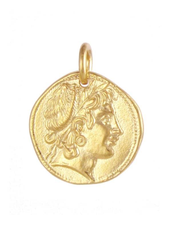 Demeter Coin Pendant Gold Vermeil