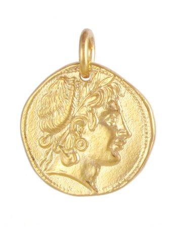 Demeter Coin Pendant Gold