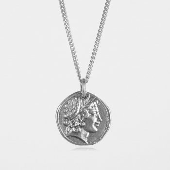Demeter Coin Necklace Silver