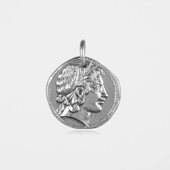 Demeter Coin Pendant Silver