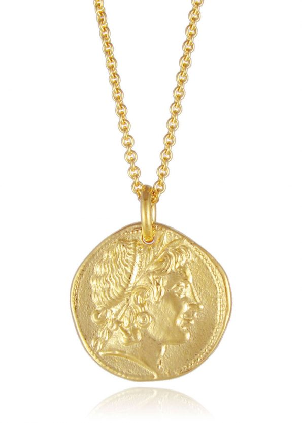 Demeter Coin Necklace Gold Vermeil