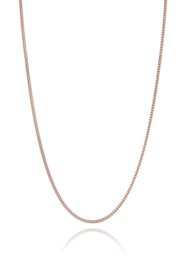 Fine Curb Chain Rose Gold