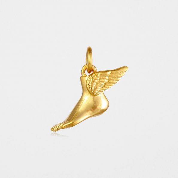 Winged Foot Pendant Gold Vermeil