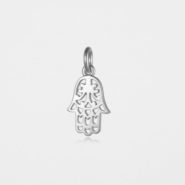 Hamsa Hand Pendant Silver