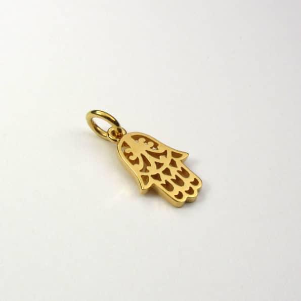Hamsa Hand Pendant Gold Vermeil