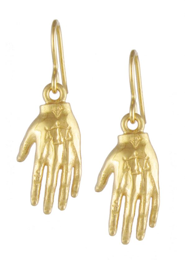 Hand Earrings Gold