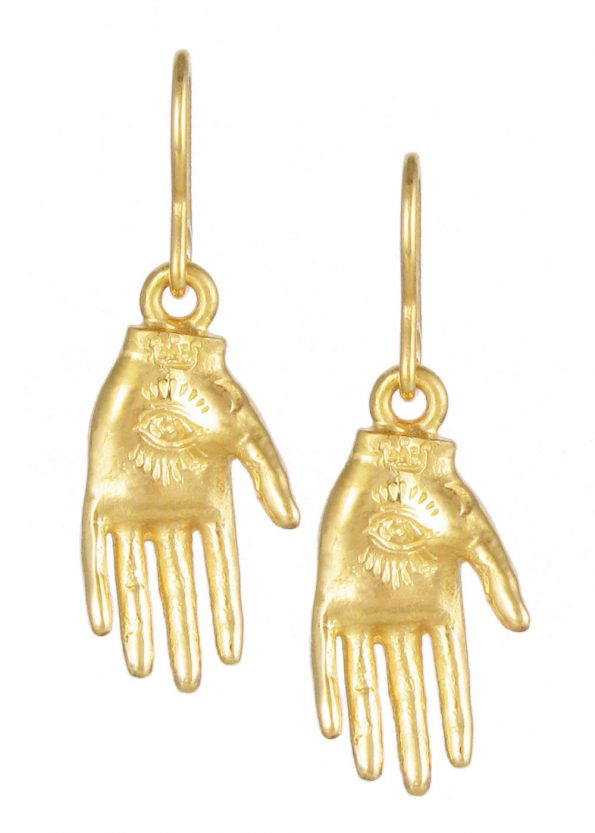 Hand of Mystery Earrings Gold