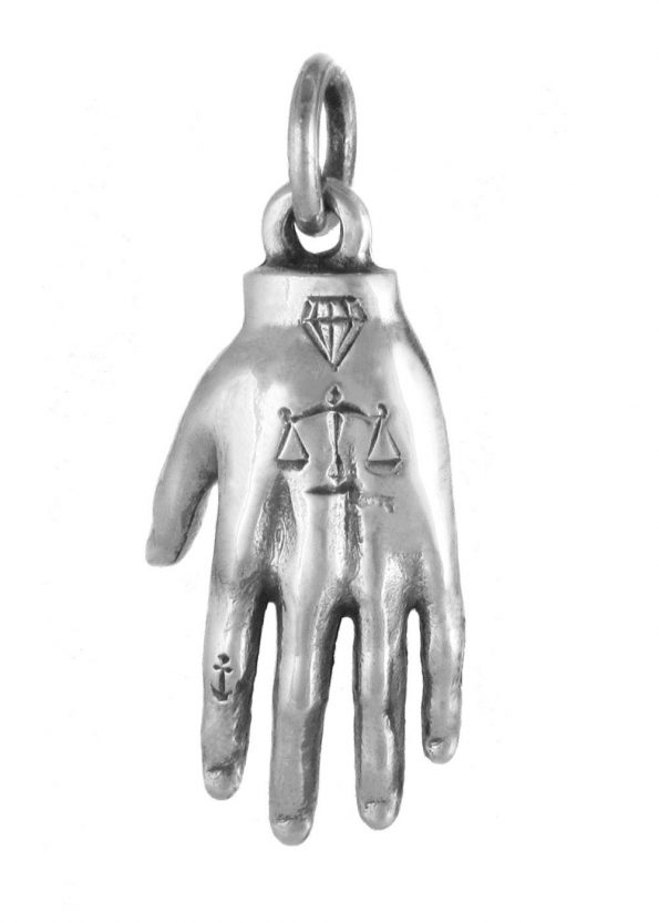 Hand Mystery Pendant Silver