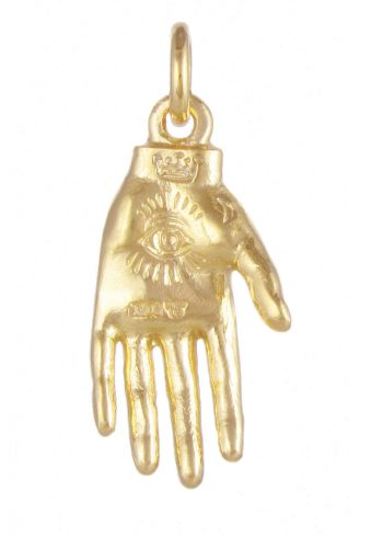 Hand Mystery Pendant Gold