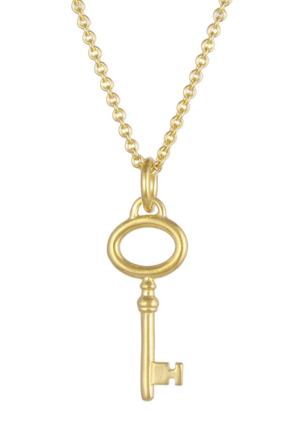 Small Key Necklace Gold