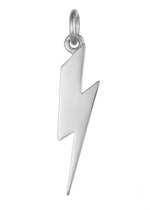 Lightning Bolt Pendant Silver