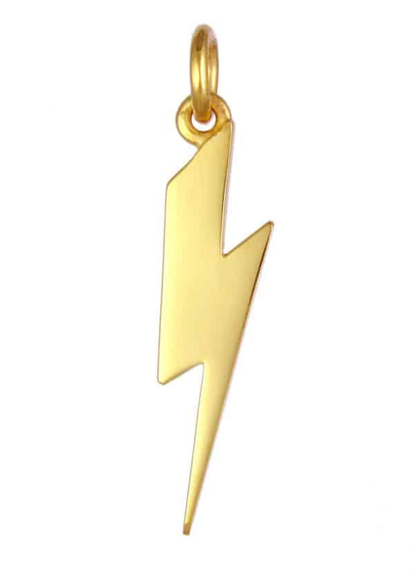 Lightning Bolt Pendant Gold