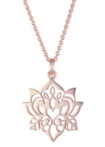 Lotus Necklace Rose Gold