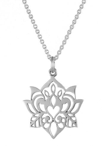 Lotus Necklace Silver