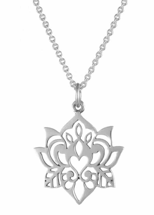 Dominique Holmes Lotus Necklace Silver