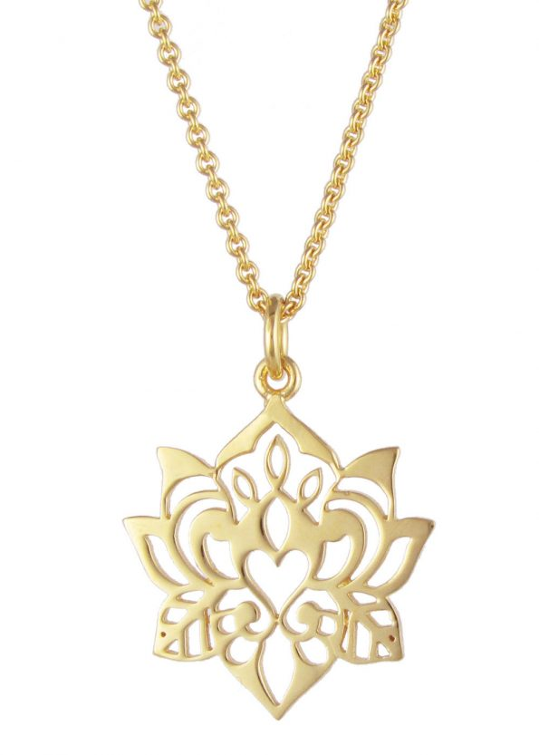 Dominique Holmes Lotus Necklace Gold