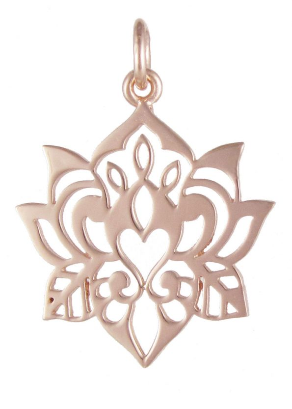 Dominique Holmes Lotus Pendant Rose Gold