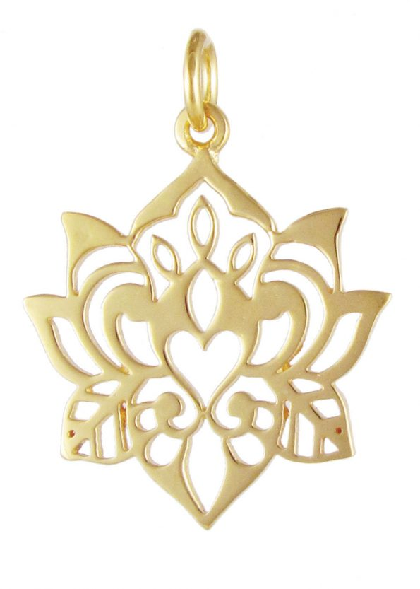 Dominique Holmes Lotus Pendant Gold