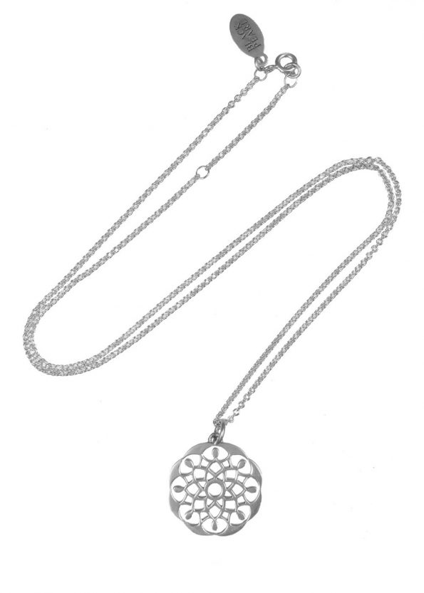 Mandala Necklace Silver
