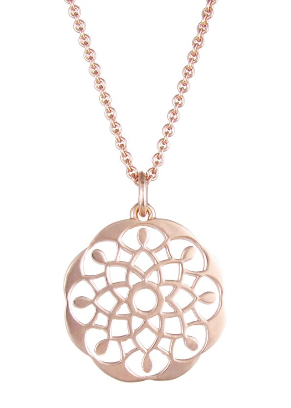 Dominique Holmes Mandala Necklace Rose Gold