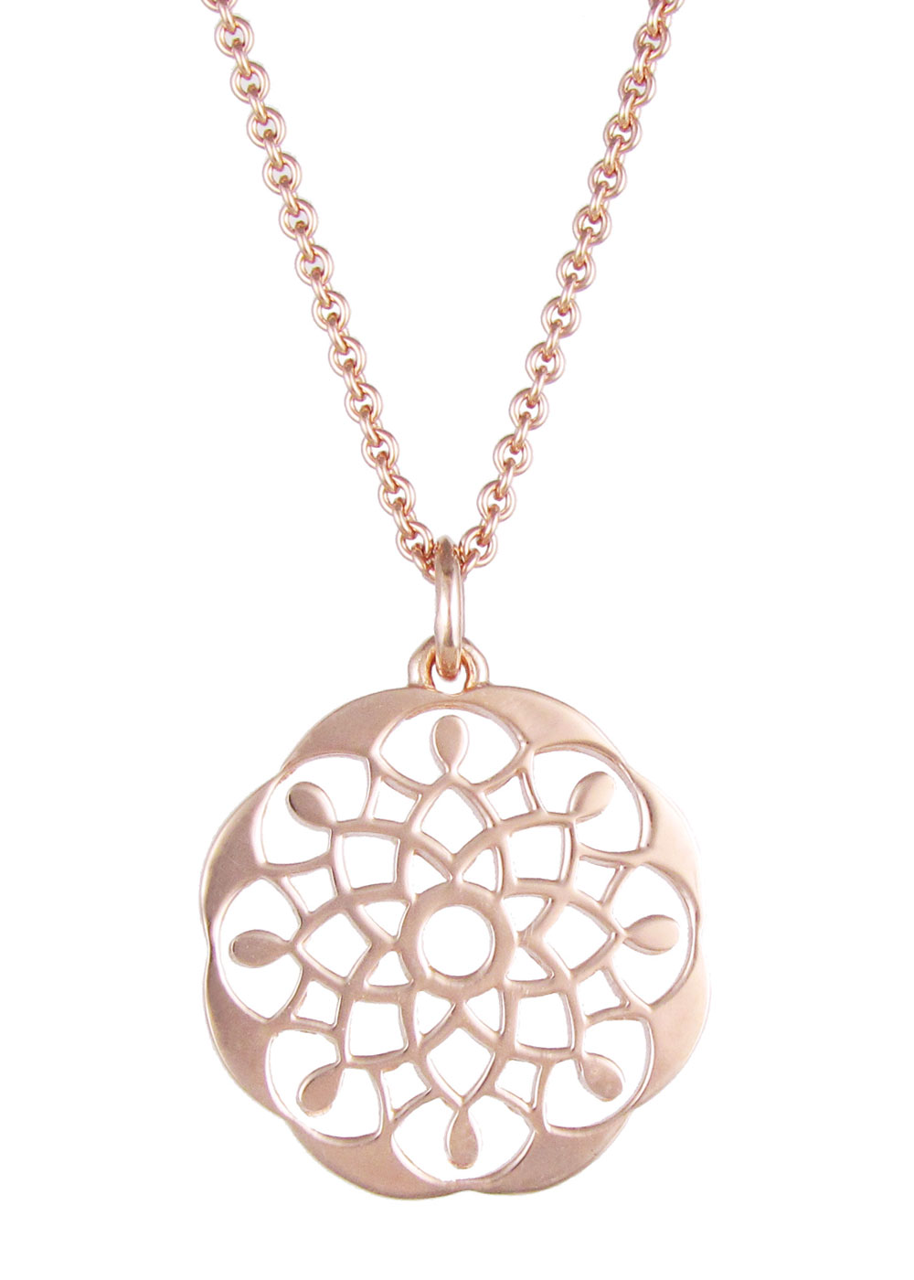 necklace silver mandala trace gold sil holmes sterling dominique product plated flat f br