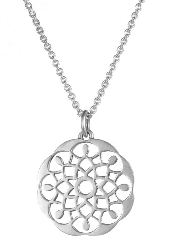 Dominique Holmes Mandala Necklace Silver