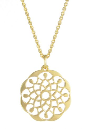 Mandala Necklace Gold