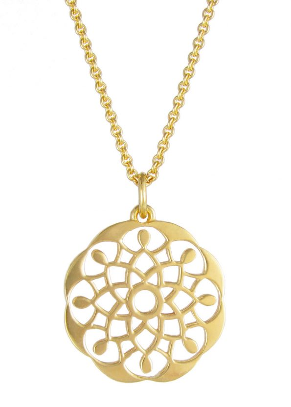 Dominique Holmes Mandala Necklace Gold