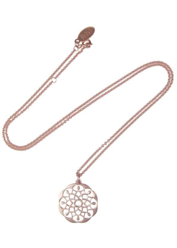 Mandala Necklace Rose Gold