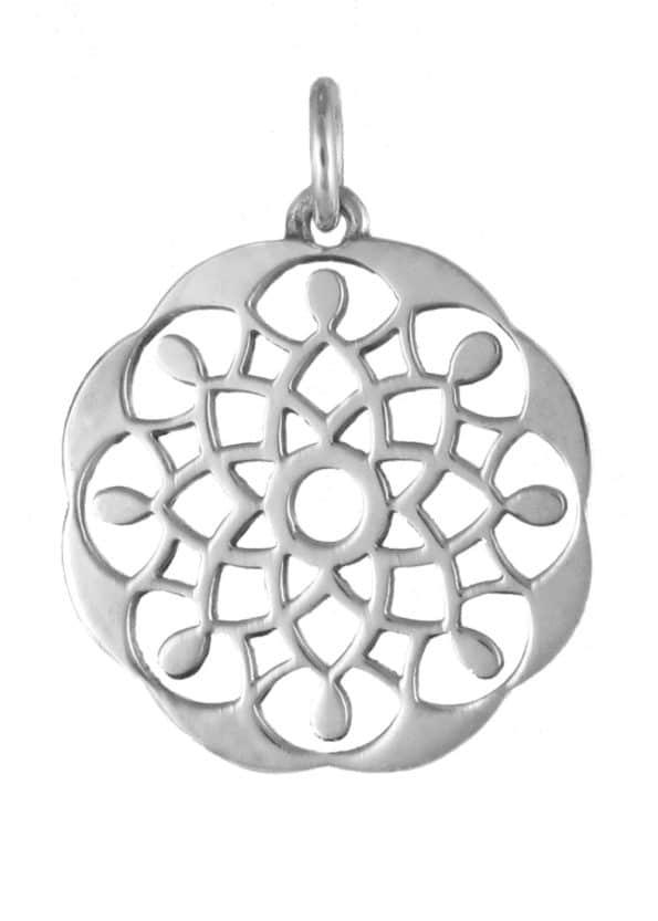 Dominique Holmes Mandala Pendant Silver