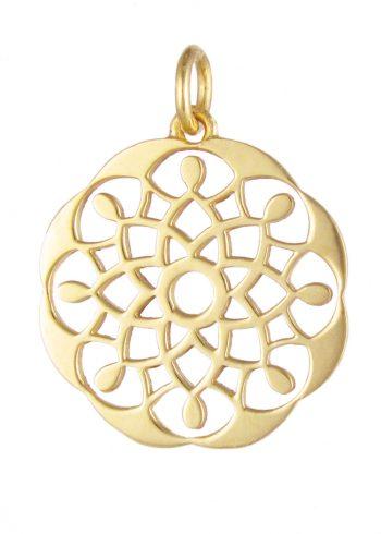 Mandala Pendant Gold
