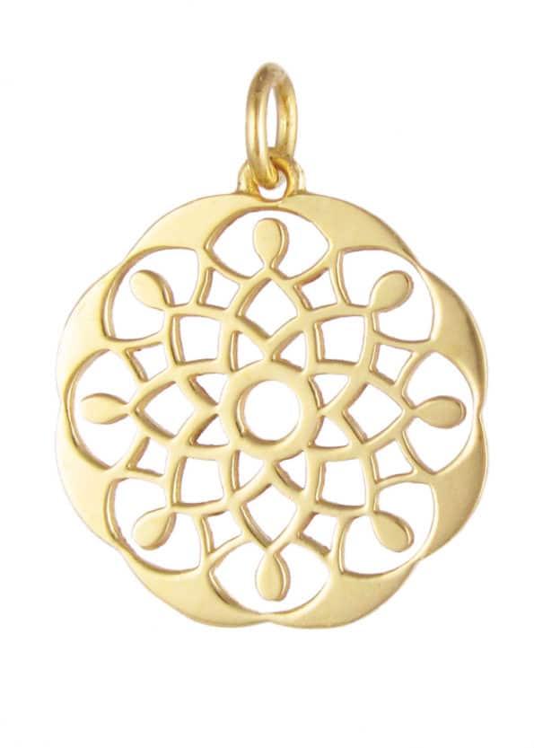 Dominique Holmes Mandala Pendant Gold