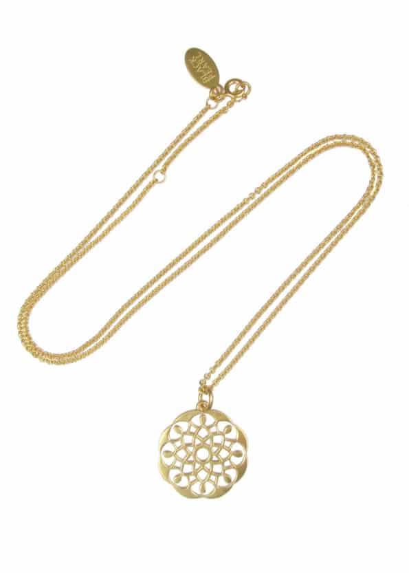 Mandala Necklace Gold