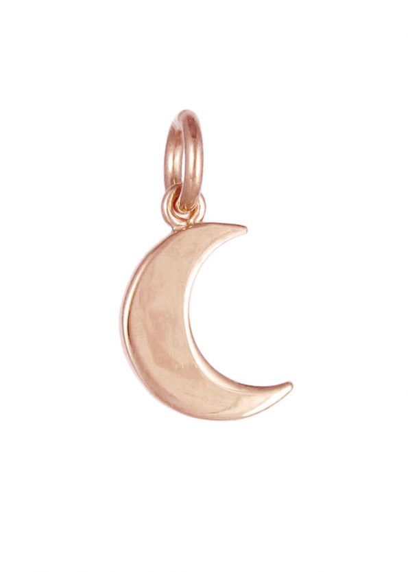 Small Moon Pendant Rose Gold
