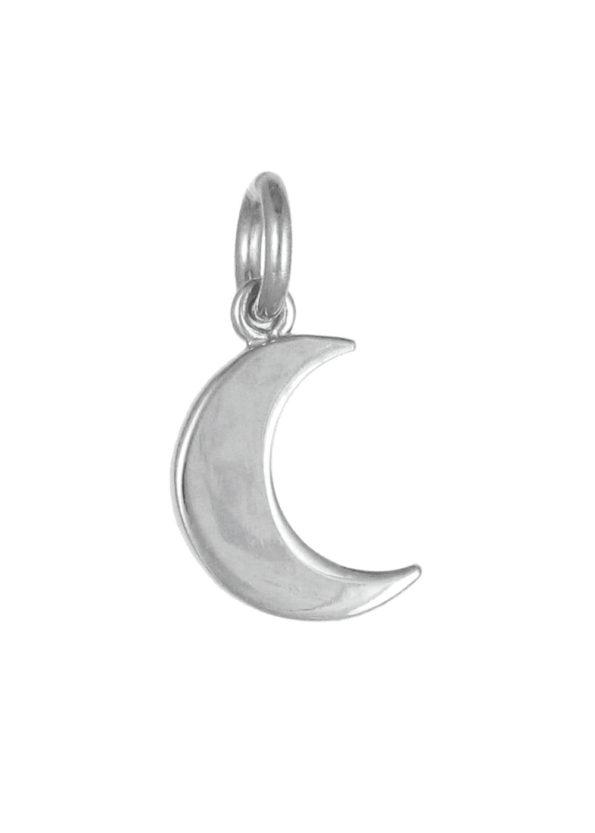 Small Moon Pendant Silver