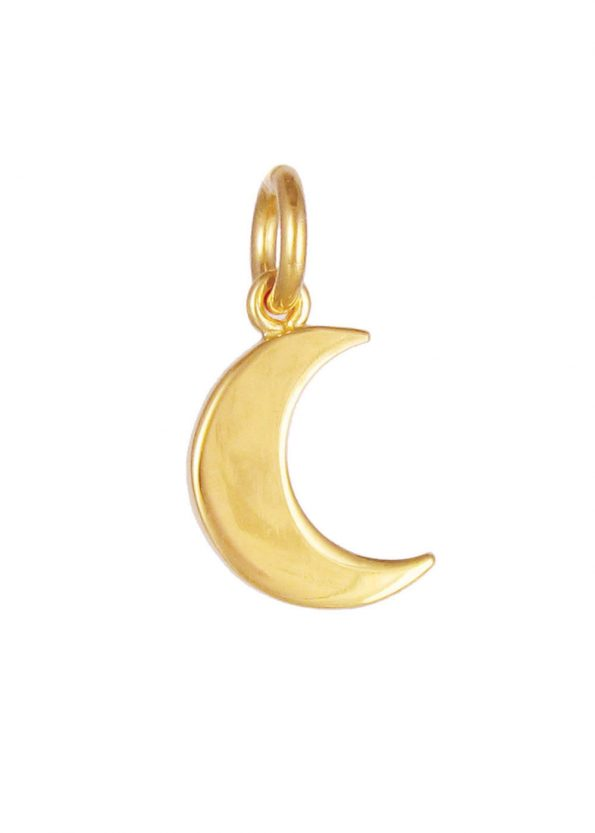 Small Moon Pendant Gold